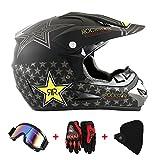 Motocross Helm Motorradhelm Cross Helme Schutzhelm für Motorrad Crossbike Off Road Enduro Sport mit...