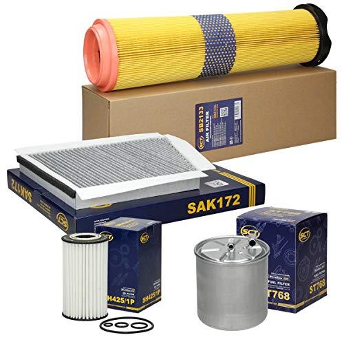 Inspektionspaket Wartungspaket Filterset 1 x Ölfilter 1 x Luftfilter 1 x Innenraumfilter mit Aktivkohle 1 x Kraftstofffilter
