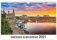 Dresden Elbflorenz 2021 Kalendarium weiss 45x30 cm