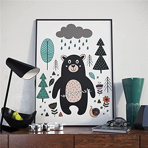 fdgdfgd Cebra León Ballena Animal impresión Mural Pintura Decorativa Dormitorio nórdico para niños póster Decorativo Lienzo Pintura