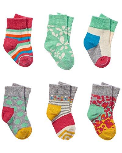 Happy Socks Baby-Socken, Blumen-Motiv, für Mädchen, Größe 0–12 Monate, Mehrfarbig