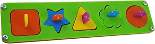 Homyl Acylic Educational Parrot Toys Geometric Shapes Colored Blocks Board Stack Sort Puzzle