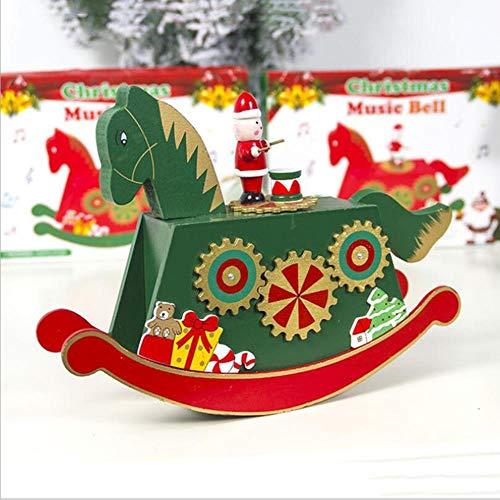 Sizwea Weihnachtsschmuck gemalt karussell spieluhr Dekoration weihnachtsspieluhr weihnachtsschmuck für zu Hause, als Show