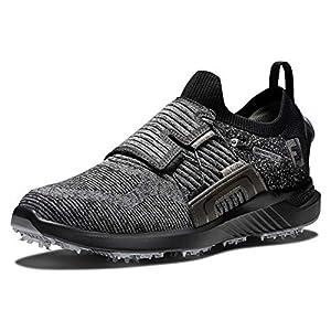 FootJoy Men's Hyperflex Boa Golf Shoe, Black/Charcoal/Silver, 11