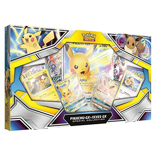 Pokémon POK80777 TCG: Pikachu-GX & Eevee-GX Special Collection, Mixed Colors