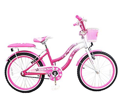 Mediawave Store Bicicletta Butterfly Flower Taglia 20 Bici per Bambina 510163 età 7-13 Anni