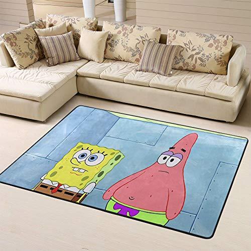 Zmacdk SpongeBob Squarepants - Alfombra de entrada para niños (120 cm x 180 cm), diseño de Bob Esponja