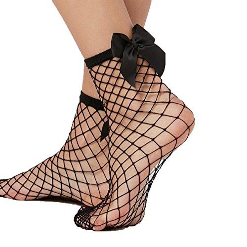 Libella 2 Paar Damen Netz Socken Strumpfhose ein echter Hingucker Strumpfhosen-Trend mit Schleife 27223