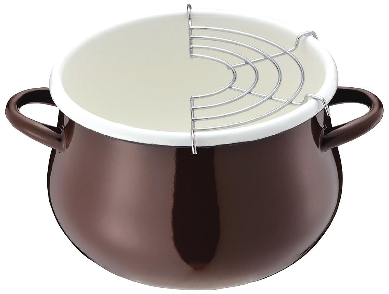 それにもかかわらず漏斗浸食パール金属 プチクック ホーロー 天ぷら 鍋 16cm ブラウン HB-1680