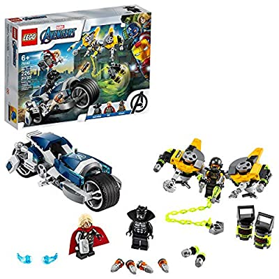 LEGO Marvel Avengers Speeder Bike Attack 76142 Black Panther and Thor Buildable Superhero Toy, Great Gift for Kids, New 2020 (226 Pieces) by LEGO
