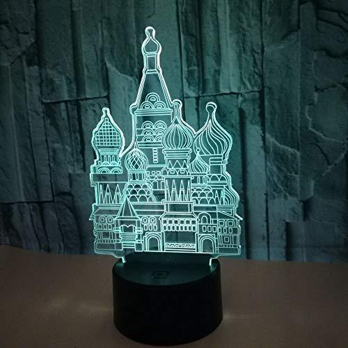 Neues Gebäude 3d kleines Nachtlicht bunte Note führte visuelle Beleuchtungskörper-Neuheits-Geschenk Usb führte Kinderlampe