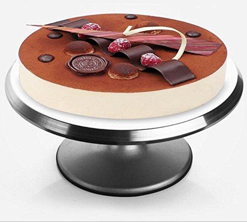 Szfmmy Alzatina per torte girevole, in lega di alluminio, 30,5 cm