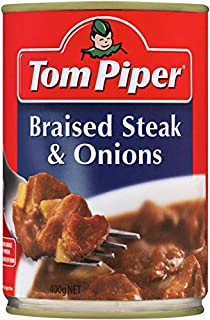 Tom Piper Braised Steak and Onions Canned Meal, 400g