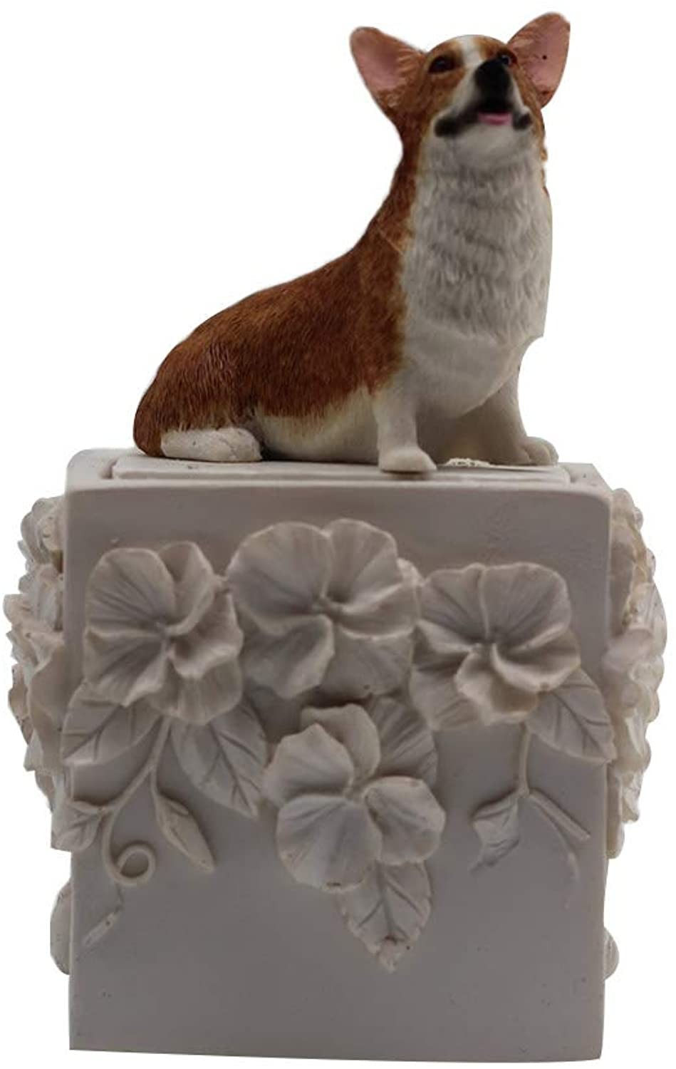 Yuxinjewelry Pet Memorial Urn Corgi Dog Pattern Ashes Cremation keepsake Cold Cast Resin Urns Personalizzabile
