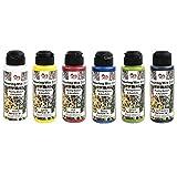 Pouring Acrylfarben-Set | 6 Farben | jeweils 120 ml | Pouring Medium bereits in Acrylfarben integriert | kein weiteres Mischen mit Fluid, Medium oder Silikonöl erforderlich (Farbmix 1)