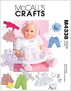 McCall's Patterns M4338OSZ Baby Doll Clothes