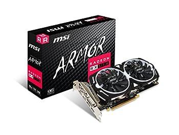 MSI Gaming Radeon RX 570 256-bit 8GB GDRR5 DirectX 12 VR Ready CFX Graphcis Card  RX 570 ARMOR 8G OC