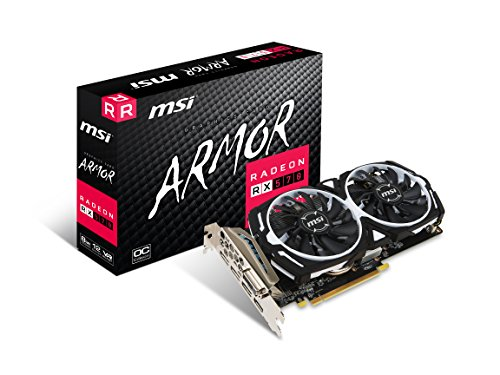 MSI RX 570 ARMOR 8G OC Gaming 256-Bit 8gb Gdrr5 Directx Graphics...