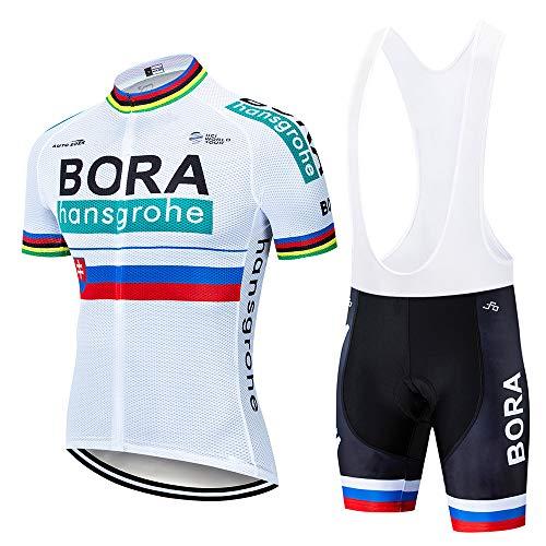 Estivo Costumi da Ciclismo per Uomini, Completo Ciclismo Uomo Maglia Ciclismo Maniche Corte Squadra Professionale