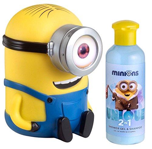 Minions Coffret Gel Douche 200 ml + Shampooing Tirelire 3D