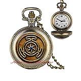 Wheel of Hecate Symbol Pendant Pocket Watch Necklace Jewelry Wheel of Hecate Pocket Watch Necklace-HZ0240