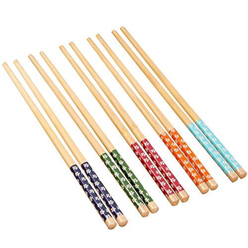 Gosear Baguettes,10 paires Naturelles Bambou Japonais Baguettes
