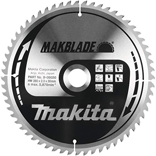 Makita Makblade Kreissägeblatt, 260 mm, 80 Zähne, 30 mm Bohrung