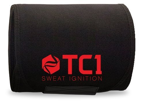 TC1 Waist belt Premium Stomach Wrap, Tummy Trimmer, Weight Loss Belt For Men and Women Black