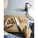 WMF Spitzenklasse Plus Asia Messerblock mit Messerset 6-teilig, 3 Messer geschmiedet, 1 Schere, 1 Wetzstahl, 1 Block aus Buchenholz, Performance Cut - 16