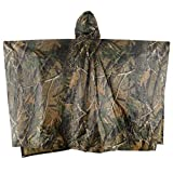 ELLEN Multifunction Waterproof Raincoat Military Camouflage Poncho For Camping Tent Rain Cover Outdoor (Maple Leaf Camouflage)