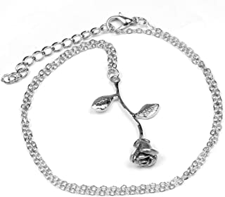 Dana Carrie Women jewelry Leaf Pendant S925 Sterling Silver Clavicle Necklace Vintage Gift