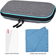 Carrying Case for Nintendo Switch Lite-Portable Hard Shell Travel Carrying Bag with 2 Pieces Screen Cleaning Cloth Cover w...