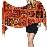 Alfombra persa oriental patrón de alfombra para mujer cálido largo chal envuelve bufandas grandes sensación de cachemira, bufanda larga