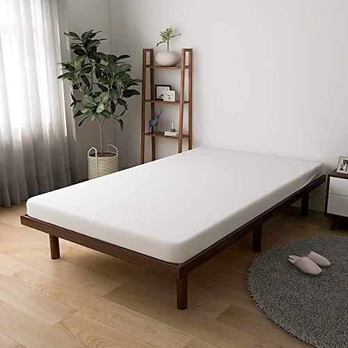 すのこベッド 脚付きベッド 三段階高さ調整可 幅120×奥行き200cm セミダブル ベッドフレーム 天然木製 耐荷重200kg (セミダブル) (ブラウン)