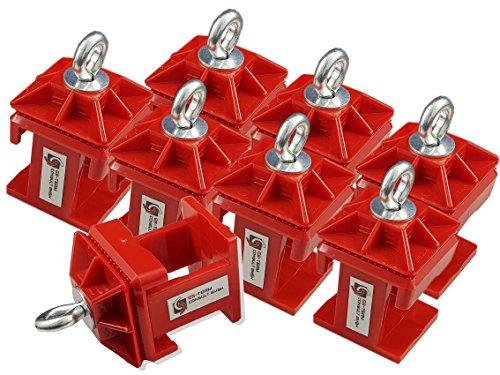 UvV UVKL0808 Klemmschellen (Typ K1) Set mit 8 Schilderklemmschellen aus Kunststoff mit Ösenschraube für temporäre Beschilderungen, Verkehrszeichen für Baustellen (Kunststoff)