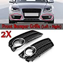 Schlagfestigkeit Frontstoßstange Nebelscheinwerfer Rahmen Ein Paar Frontstoßstange Nebel-Licht-Lampe Racing Honeycomb Sechseckgitter Grille Grillabdeckung Fit For Audi A5 Fit For Coupe / Sportback 200