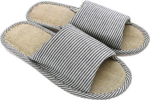 APIKA Mujeres y Hombres Zapatillas de Punta de Lino de algodón con luz Suave Abierta...