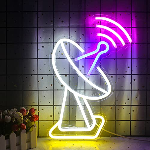 Señal de neón con forma de wifi, luz de neón de pared LED, luces de neón USB para el hogar, habitación de niños, sala de juegos, bar, tienda, cumpleaños, navidad, festival, decoración, letrero