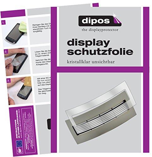 dipos I 2X Schutzfolie klar kompatibel mit Jura J6 J9 J9.4 J9.3 J90 J95 J500 XJ9 Tropfblech Folie Displayschutzfolie