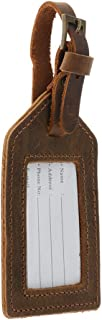 Prettyia PU Leather Instrument Baggage Bag Luggage Tags with Privacy Cover