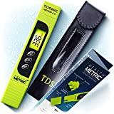 TDS Meter Digital Water Tester - ppm Meter, EC & Temperature Test Pen 3-in-1 | Easy to Use Water Quality Tester | Ideal for Testing RO Drinking Water Hydroponics Aquarium Swimming Pool & More | Green