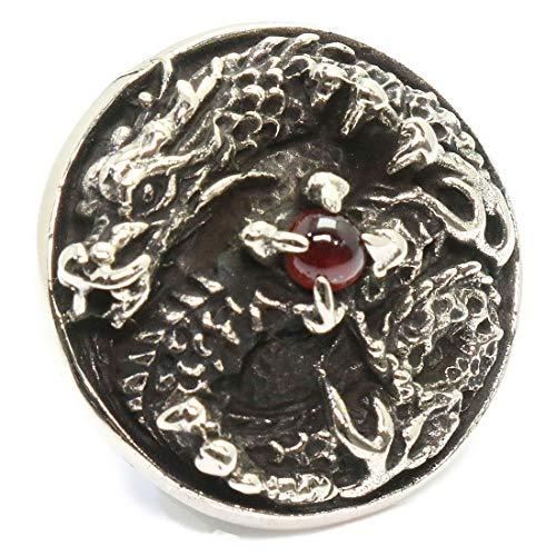 コンチョ ドラゴン ガーネット 竜 龍 クロウ コンチョ スカル 亜鉛合金製 コンチョ アンティークゴールド コンチョ ナバホ 財布 ウォレット メンズ ネジ式