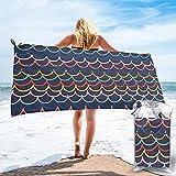 mengmeng Toalla de secado rápido con ondas de arco iris, para deportes, gimnasio, viajes, yoga, camping, natación, súper absorbente, compacta, ligera, toalla de playa