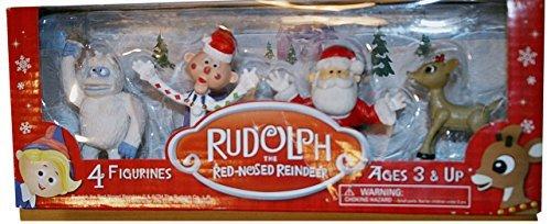 Rudolph 4 Pack Figurine Set