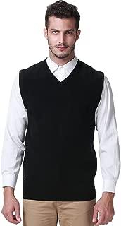 SSLR Mens Regular Fit V Neck Casual Sweater Vest