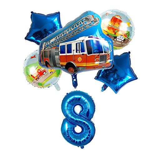 Wtuxchib Globos 6 Piezas Feliz cumpleaños Globos decoración Fiesta 32 Pulgadas número niños Juguetes Bola (Couleur : 9)