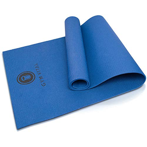 GYM VITAL Yogamatte | rutschfest Übungsmatte |183cm x 61cm x 0,6cm | Gymnastikmatte | Turnmatte | Fitness + Yoga + Gymnastik| PVC-Matte