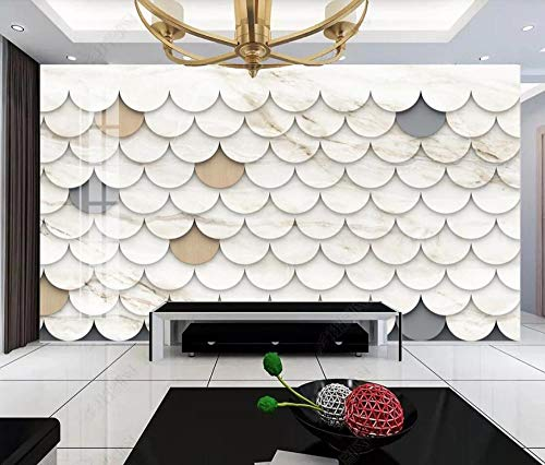 3D Fototapete 3D Effekt Geometrische Figur Jazz Weißer Marmor Minimalistisch Tapete 3D Wandbild Bild Tapeten Wandtapete Dekoration Wandbelag Wanddeko