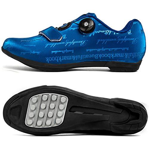 Aupast Zapatilla de Ciclismo Hombre, Zapatos de Bicicleta de Carretera Antideslizante Transpirable Calzado de Ciclismo y Senderismo