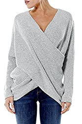 Loose lightweight baggy sweater tops ldeal to pair with shorts,jeans or leggings. Casual Design, Elegant Blouse Top to Show Off your Charming Curves. It's baggy enough to hide your fats, good for any body types. As a Christmas gift is a great choice....